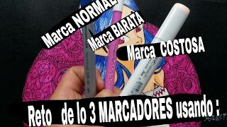 Reto de  los  3  MARCADORES   #3 markers challenge