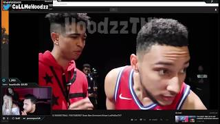 LosPollosTV reacts to Kristopher London asking Ben Simmons do he knows LosPollosTV from Twitch TV !