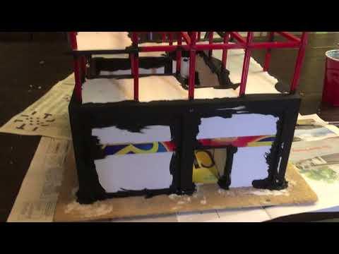 Batman Miniature Game Terrain Diary - Skyscraper Under Construction
