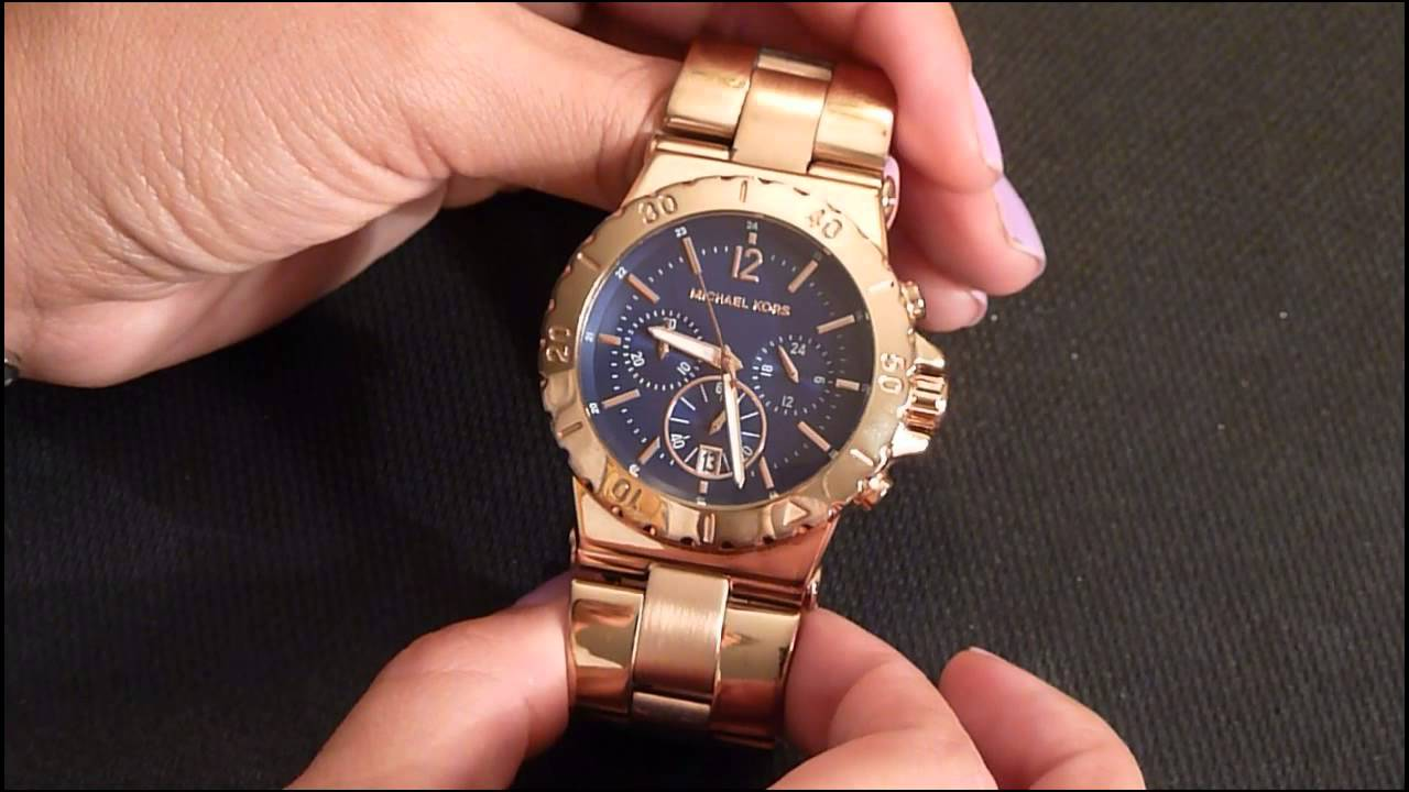 703193724a8f Michael Kors Bel Air Chronograph Blue Dial Watch review - YouTube