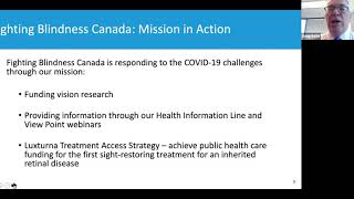 Fighting Blindness Canada Town Hall April 2020