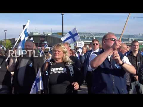 Finland: Hundreds rally against Islam and EU refugee policy