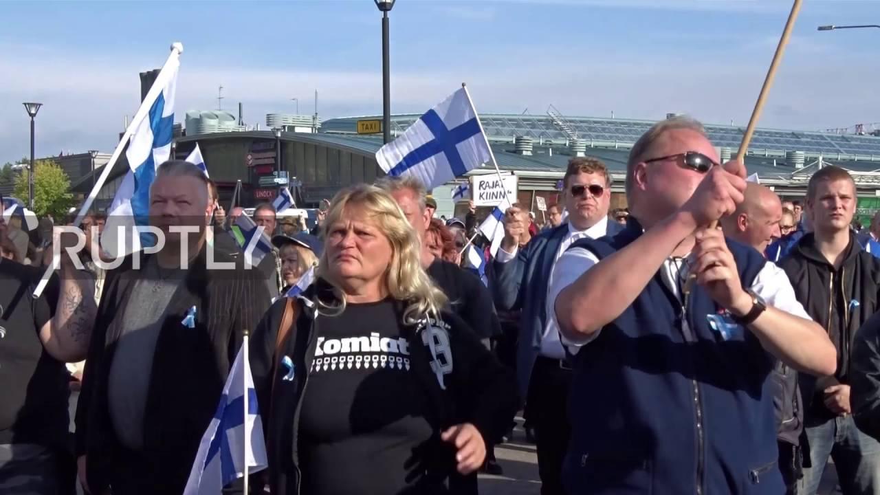 Finland: Hundreds rally against Islam and EU refugee