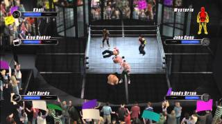 WWE Smackdown Vs Raw 2008 Elimination Tag Gameplay By markus0hyeah ( HD )
