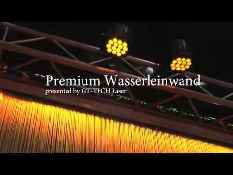 Premium Wasserleinwand für Laser und Videoprojektionen