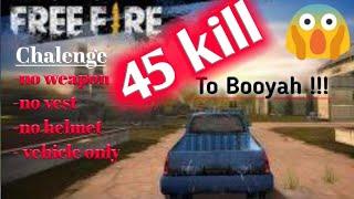 VEHICLE challenge | begini cara BOOYAH pakai MOBIL - tips  & trick Skill kaleng 17kill Free fire