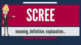 What is SCREE? What does SCREE mean? SCREE meaning, definition & explanation