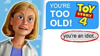 """r/entitledparents """"YOU'RE TOO OLD FOR TOY STORY 4!"""""""