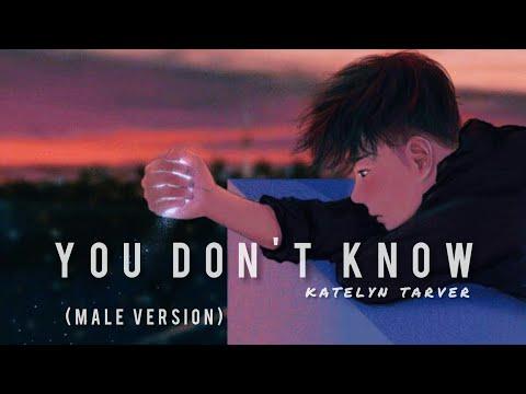 Katelyn Tarver - You don't know [ Male Version ]    Lyrics & Terjemahan