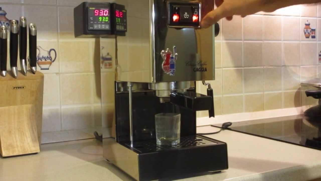 Gaggia Classic Pid Mod Espresso Extraction Youtube