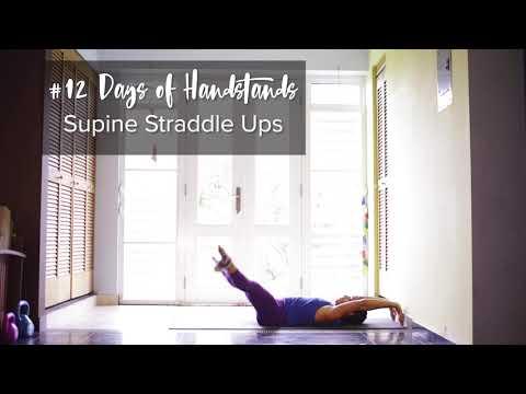 Supine Straddle Ups | YogaSlackers 12 Days of Handstands