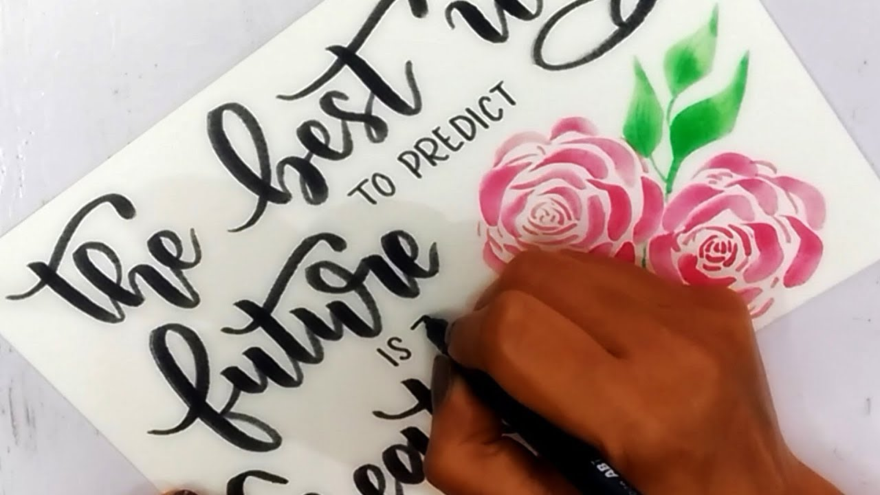 Floral water color calligraphy for beginners brush pen