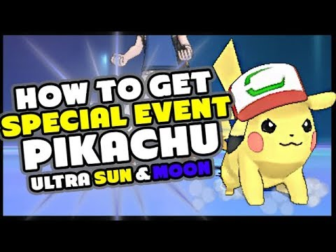 How To Get Ash Pikachu I Choose You Pokemon Ultra Sun And Ultra