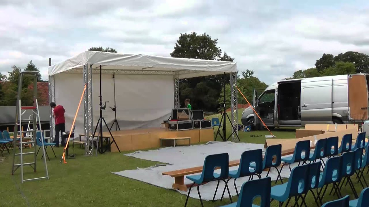 Outdoor Stage Build Western Downland School 2017 Variety Show