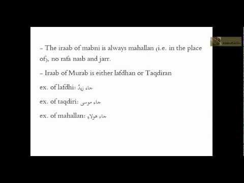 How to do Tarkeeb (Grammatical Analysis)? - Lesson 1