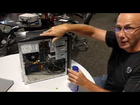 Clean Your Computer with Compressed Air
