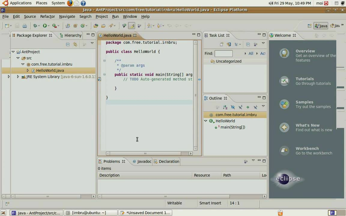 Use ant with eclipse 34 java 6 and ubuntu part 1 youtube use ant with eclipse 34 java 6 and ubuntu part 1 baditri Images