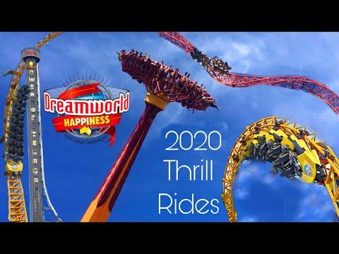 All Thrill Rides 2020 - Dreamworld Gold Coast Australia