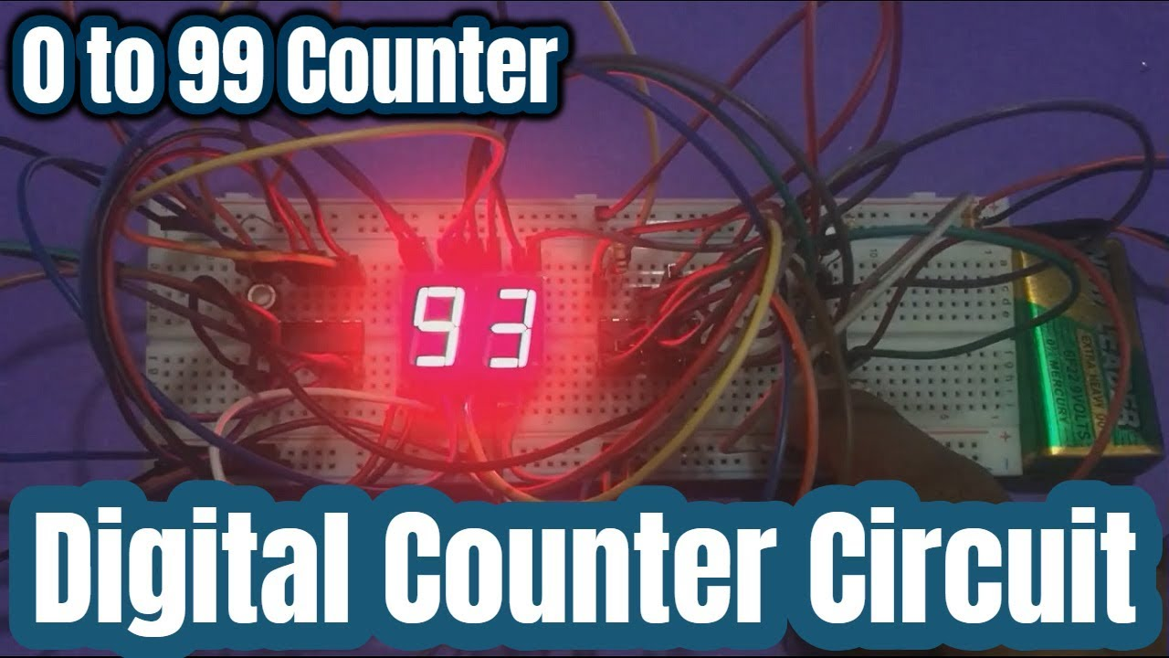 Digital Counter 0 To 99 Using Cd 4026 And 7 Segment Display Youtube Circuit