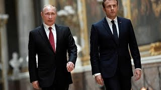 Встреча Владимира Путина и Эмманюэля Макрона. Прямой эфир