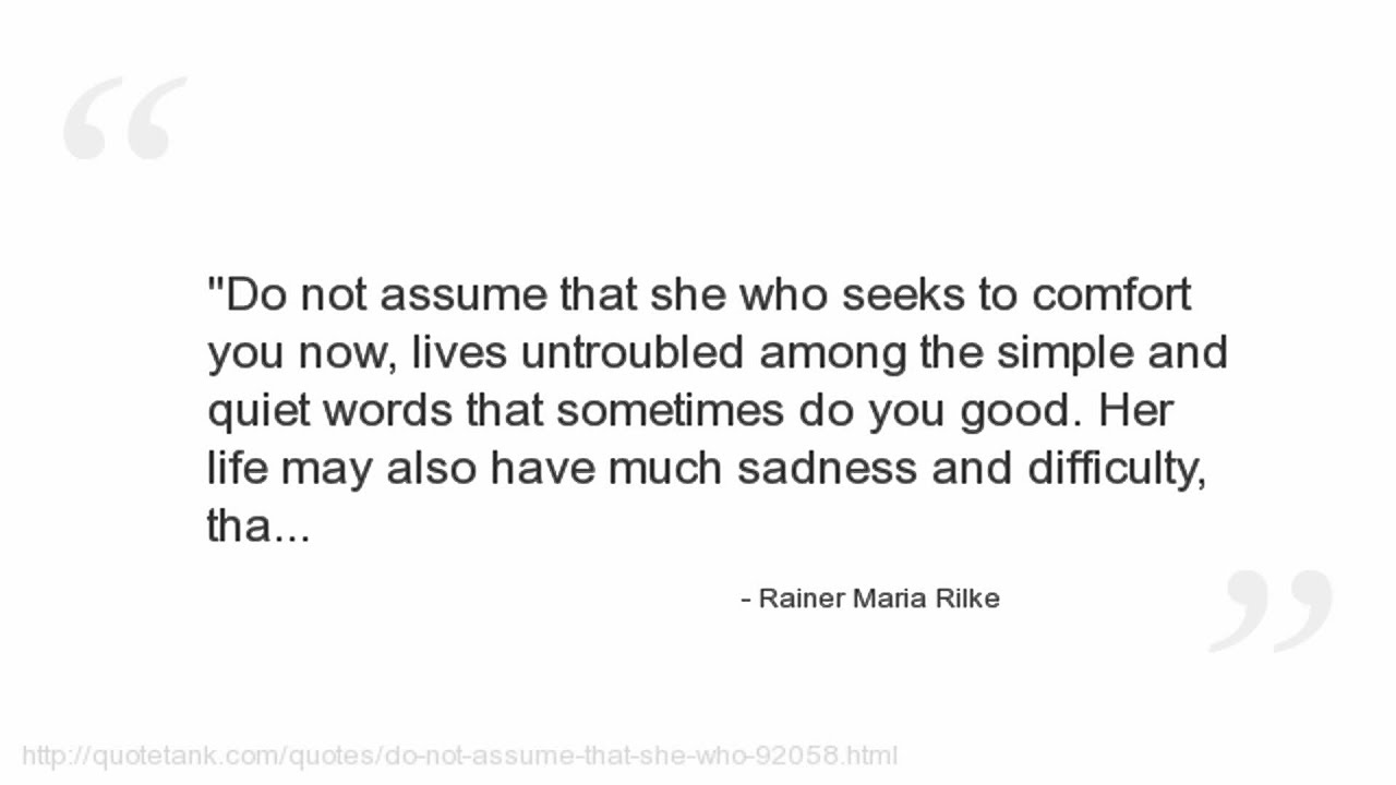 Rainer Maria Rilke Quotes - YouTube
