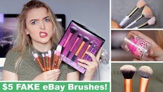 Testing FAKE Ebay Makeup Brushes! *SUCCESS?!*