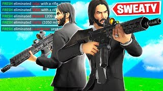 THE SWEATIEST JOHN WICKS IN FORTNITE