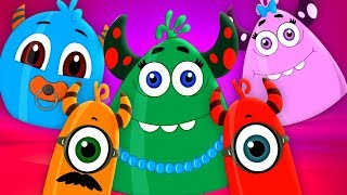 Monster Finger Family | Momo Beats | Nursery Rhymes For Children By Kids Channel