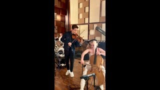Henry Lau and Clean Bandit jamming in the studio!