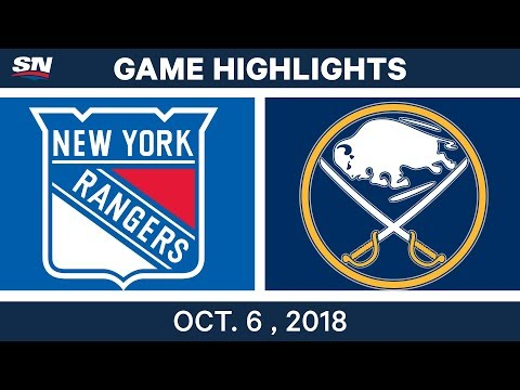 NHL Highlights | Rangers vs. Sabres - Oct. 6, 2018