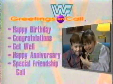 wwf greetings on call promo commercial, Birthday card