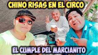 Chino Risas Celebrando Cumpleaños del Marcianito de la Risa