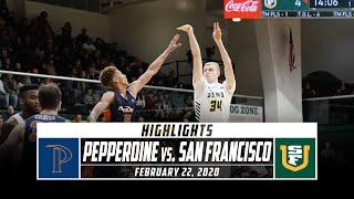 Pepperdine vs. San Francisco Basketball Highlights (2019-20) | Stadium