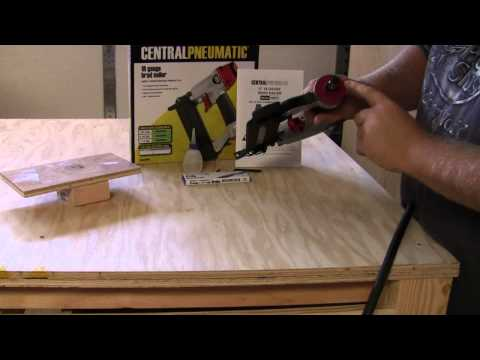 Harbor Freight Tools Brad Nailer Quick out of the box review on a cheap nailer