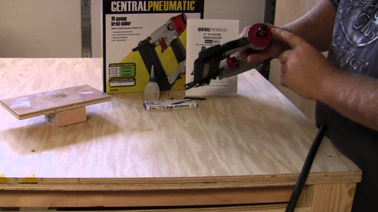 Harbor Freight Tools Brad Nailer Quick Out Of The Box Review On A