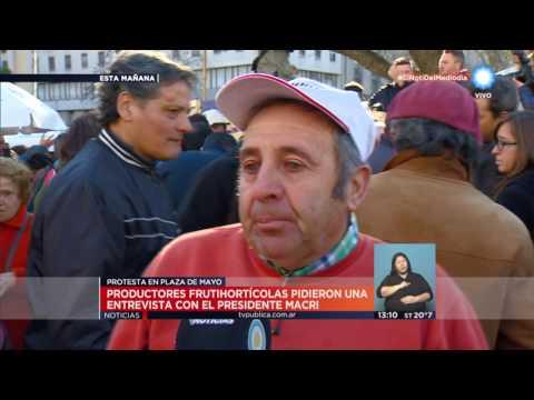 TV Pública Noticias - Protesta de productores en Plaza de Mayo