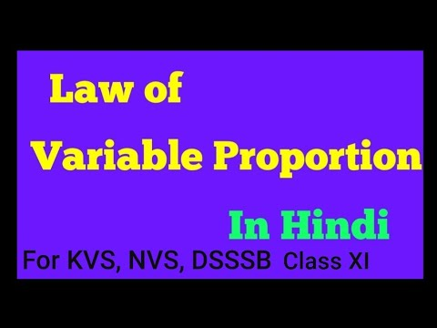 Law of variable Proportion class Xll Economics