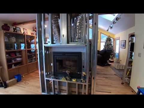 Obadiah's: Installing a Zero Clearance Fireplace Part 2 - Framing a See Thru Fireplace