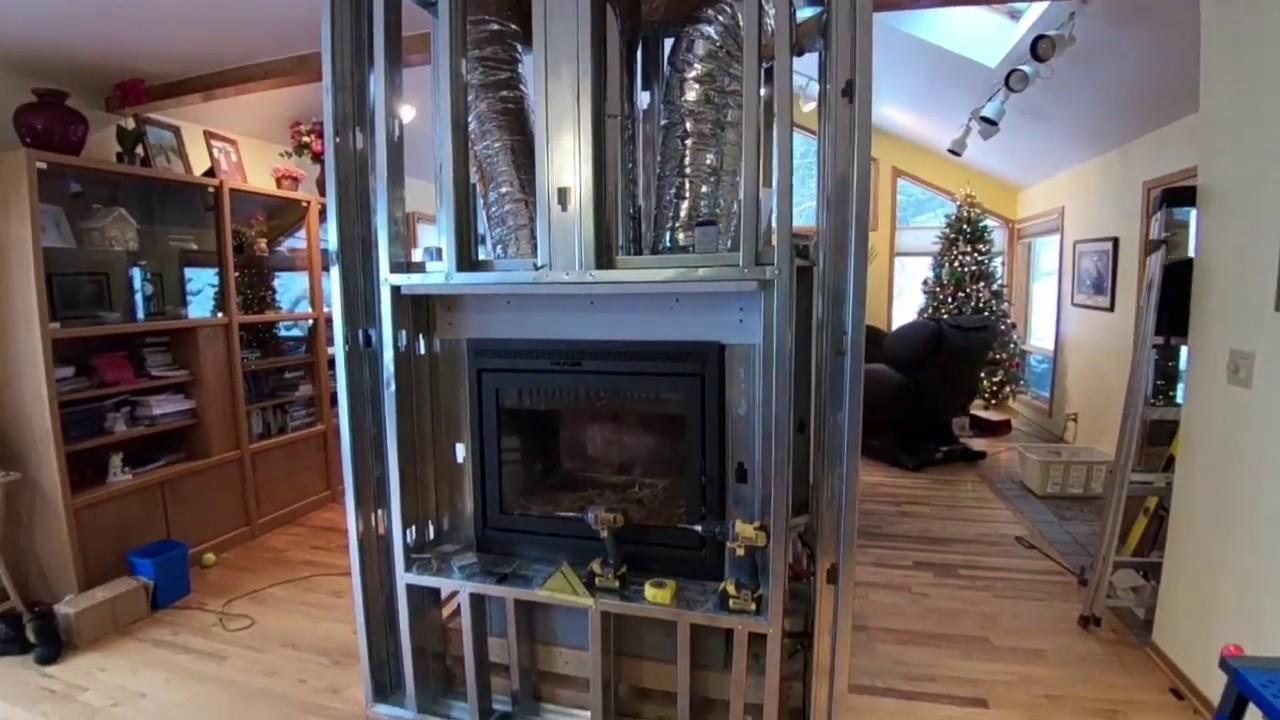 Obadiah S Installing A Zero Clearance Fireplace Part 2 Framing A See Thru Fireplace Youtube