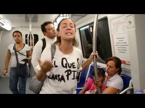 El video del que todos hablan: Mensaje de una joven madre en el metro de Caracas a Venezuela