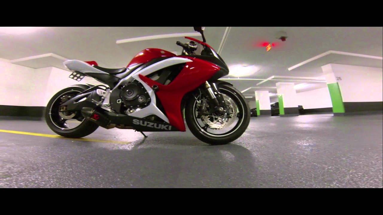 suzuki gsxr 600 HD GOPRO red gixxer sport bike - YouTube