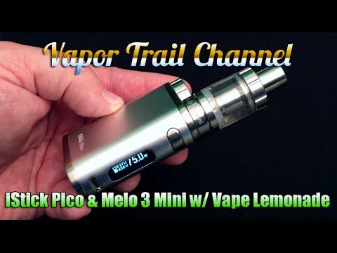 Eleaf iStick Pico 75w TC & Melo 3 Plus Vape Lemonade Eliquid
