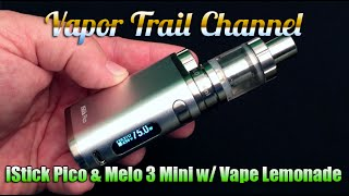 Eleaf iStick Pico 75w TC & Melo 3 Plus Vape Lemonade Eliquid