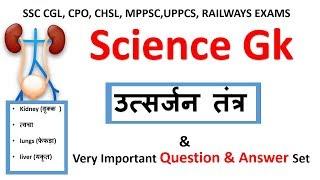 Science Gk | मानव शरीर के तंत्र  :-  उत्सर्जन तंत्र