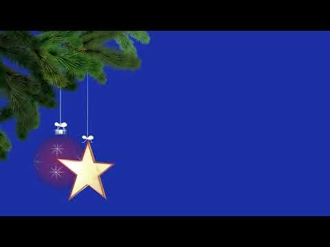 Футаж Новогодний фон на синем