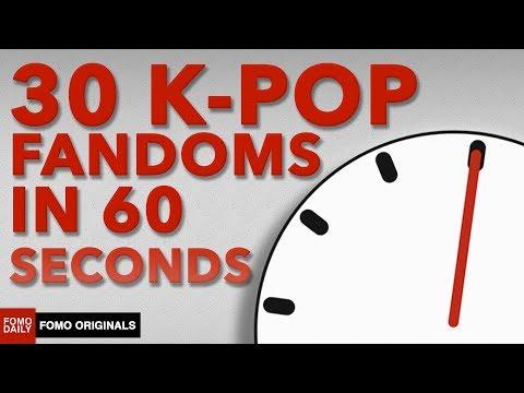 30 K-Pop Fandoms in 60 Seconds