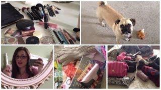 Vlog #1 - Packing, Travel Makeup, & Pugs!