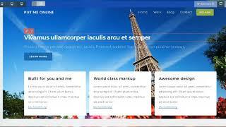 PutMeOnline - A Free Resposnive Drag n Drop Website Builder