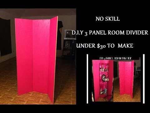 Diy 3 Panel Room Divider Under 30 To Make Little No Skill