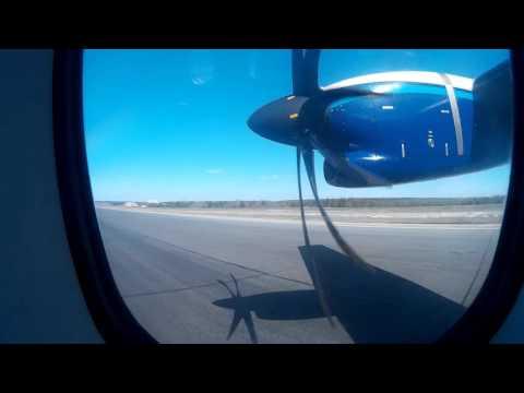 ATR-42 NordStar взлёт из Емельяново 04.05.16
